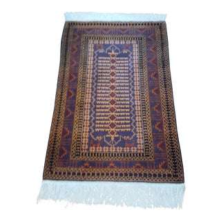"Persian Shiraz Hand-Knotted Oriental Wool Rug - 4'10"" X 2'11"""