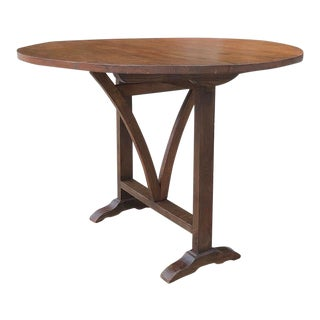 19th Century Country French Tilt-Top Wine Tasting Table For Sale
