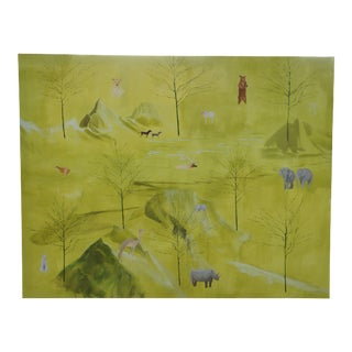 """Donna Moylan Signed """"The Peaceable Kingdom"""" Oil on Canvas Painting 1992-1993 For Sale"""