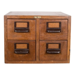 Mid-Century Globe Wernicke Card Catalog C.1950 For Sale