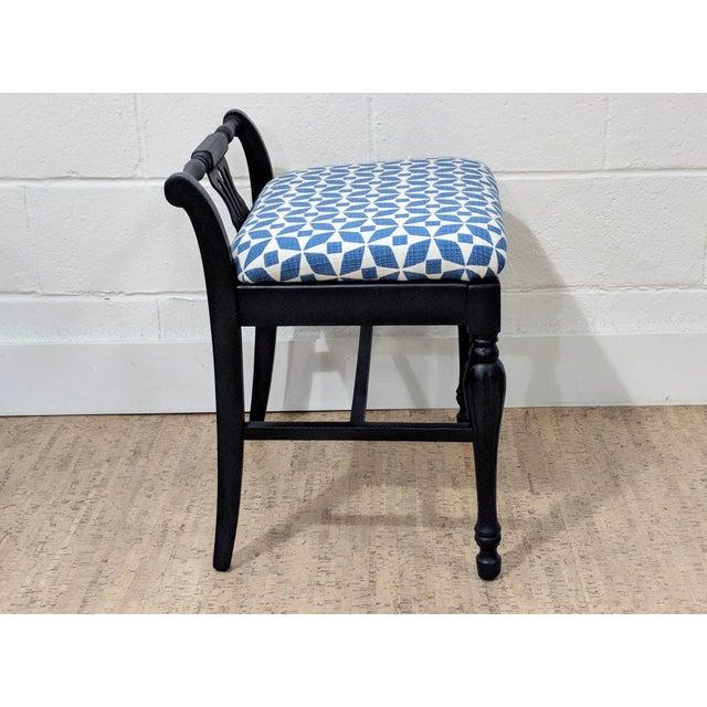 Art Deco Antique Vanity Stool - Newly Upholstered For Sale - Image 3 of 11 - Antique Vanity Stool - Newly Upholstered Chairish