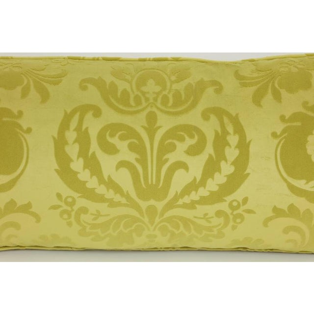 Mid-Century Modern Long Damask Cushion For Sale - Image 3 of 7