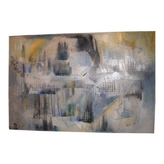 Cubist Style Abstract Cityscape Painting For Sale