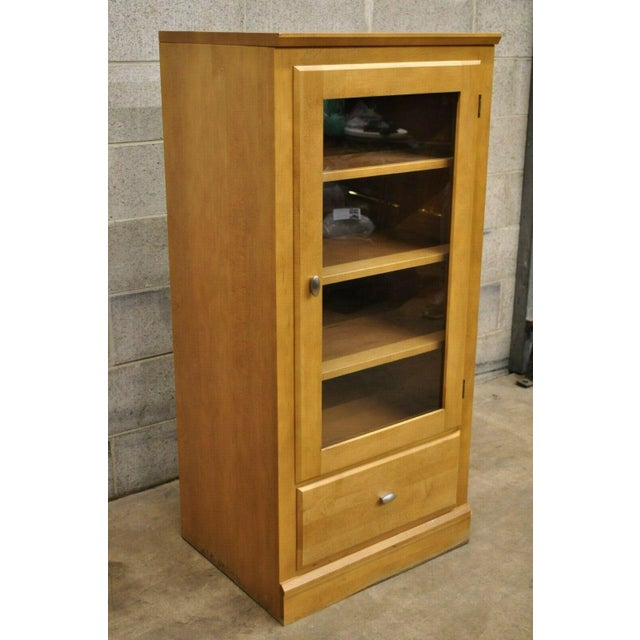 English Ethan Allen Elements Maple Bookcase-a Pair For Sale - Image 3 of 13