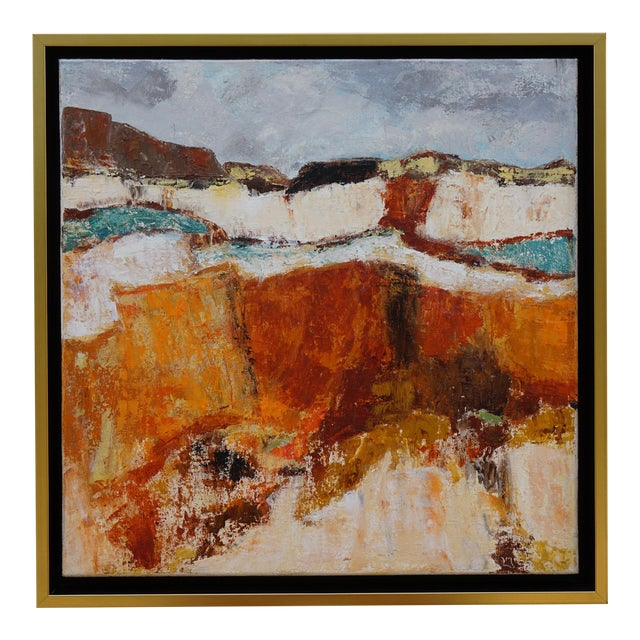 "Abstract Landscape ""Building Blocks"" by Laurie MacMillan For Sale"