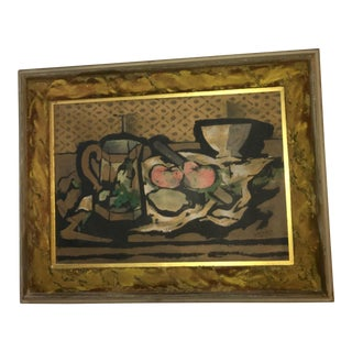 1950s Vintage Braylie Still Life Framed Print For Sale