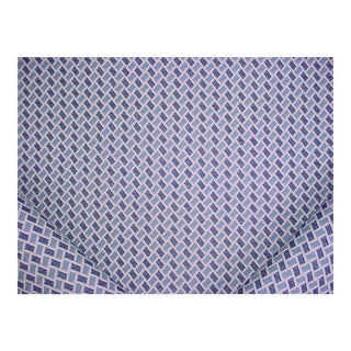 Brunschwig & Fils New Briquetage Blue Brocade Upholstery Fabric - 3 7/8 Yards For Sale