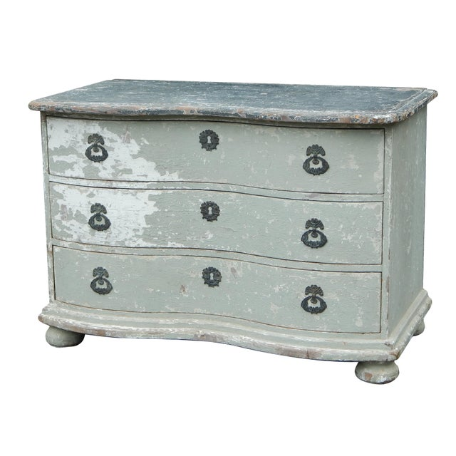 French Bow Front Dresser For Sale - Image 11 of 11