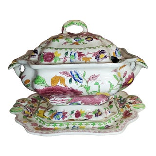 "Late 19th Century Mason's Ironstone ""Regency"" Tureen For Sale"