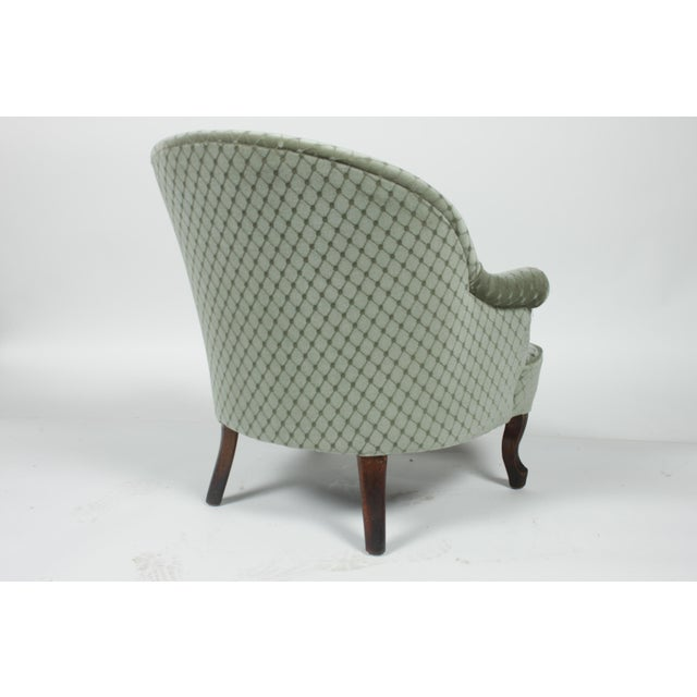 Mahogany 1890s Victorian Ladies Slipper Chair For Sale - Image 7 of 8