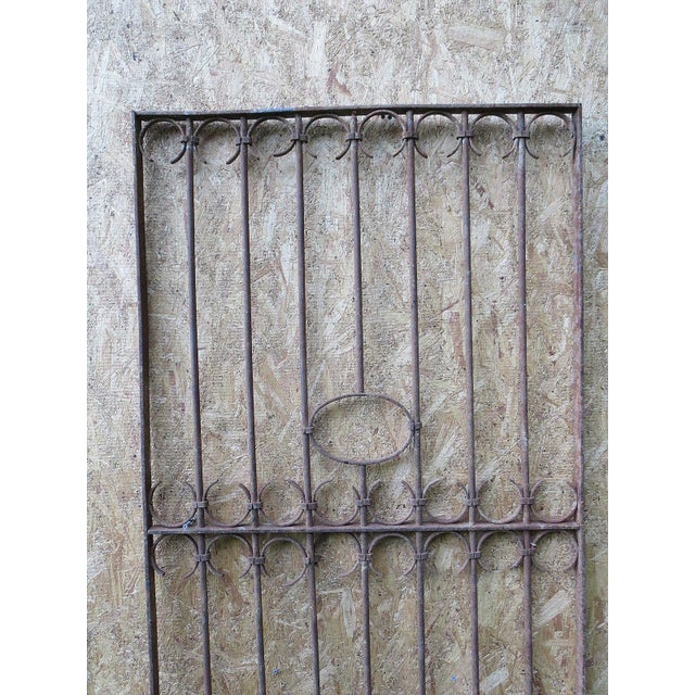 Antique Victorian Iron Gate Window Garden Fence Architectural Salvage Door For Sale - Image 5 of 11