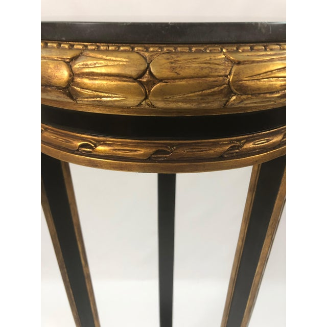 Gold Regency Style Custom Black and Gold Stand For Sale - Image 8 of 10