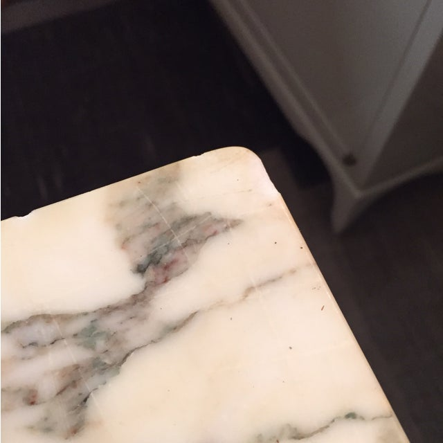 Mid-Century Marble and Walnut Side Tables - A Pair - Image 10 of 10