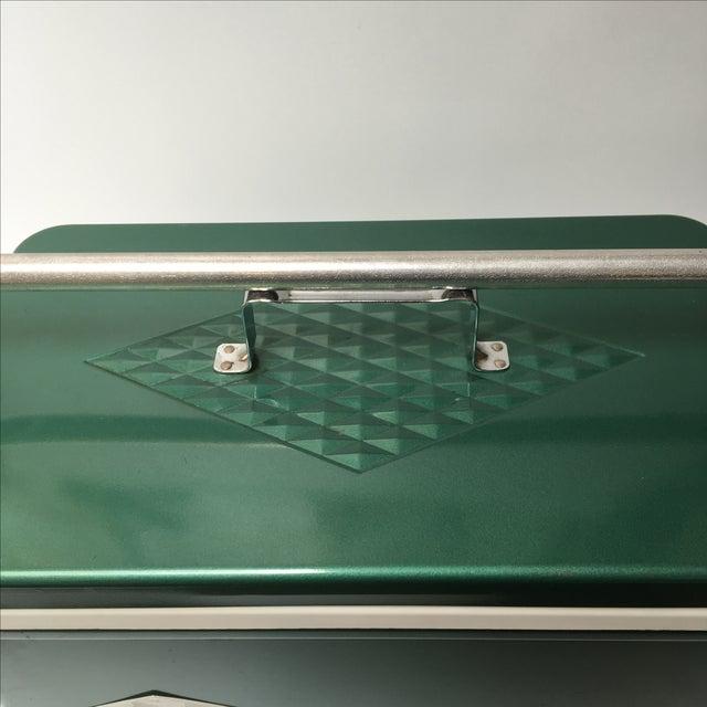 Green Vintage Coleman Cooler For Sale - Image 8 of 11