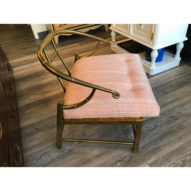 1970's Brass Ming Chair - Image 3 of 6