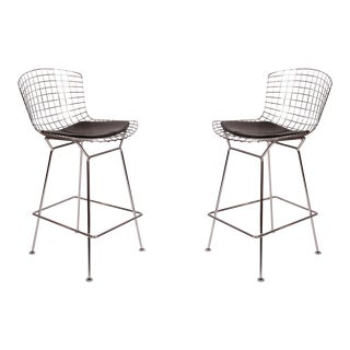 Harry Bertoia for Knoll Chrome Barstools - a Pair For Sale
