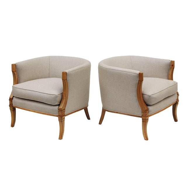 Hollywood Regency Barrel Back Chairs - A Pair - Image 1 of 10