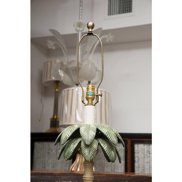 Polychromed Tole Palm Tree Floor Lamp - Image 2 of 6