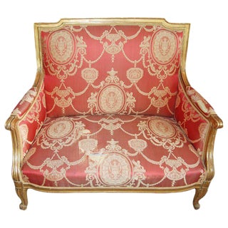 19th Century Giltwood Marquis Chair