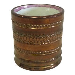 Antique Copper Lustreware Toothpick Holder For Sale
