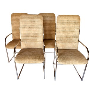 Design Institute of America Mid-Century High Back Dining Chairs - a Pair For Sale