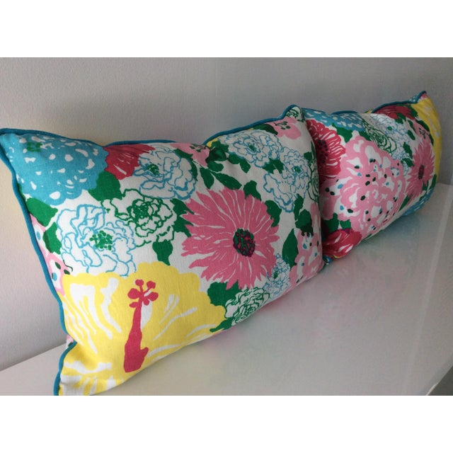 Farmhouse Cottage Style Handmade Floral Pillows - a Pair For Sale - Image 3 of 11