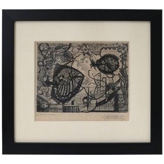 """Ritmos Manoos"" AP / Etching by Julio Prieto Nesperira For Sale"
