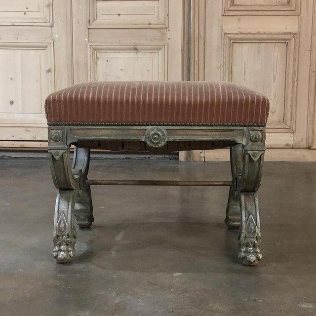 French 19th Century French Louis XIV Painted Stool For Sale - Image 3 of 11