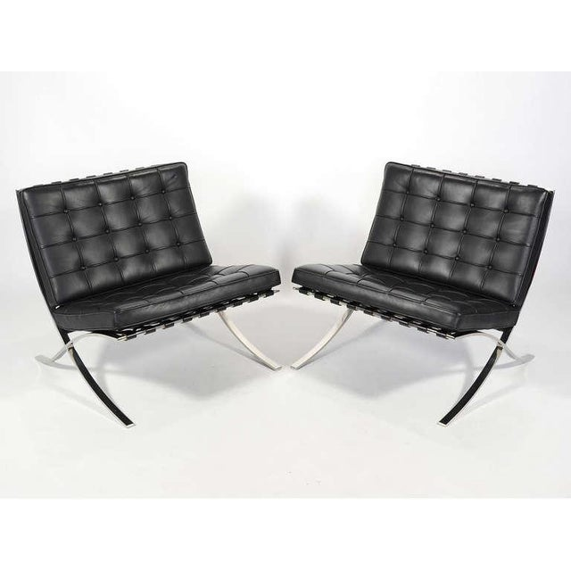 Ludwig Mies van der Rohe Barcelona Chairs by Knoll For Sale In Chicago - Image 6 of 11