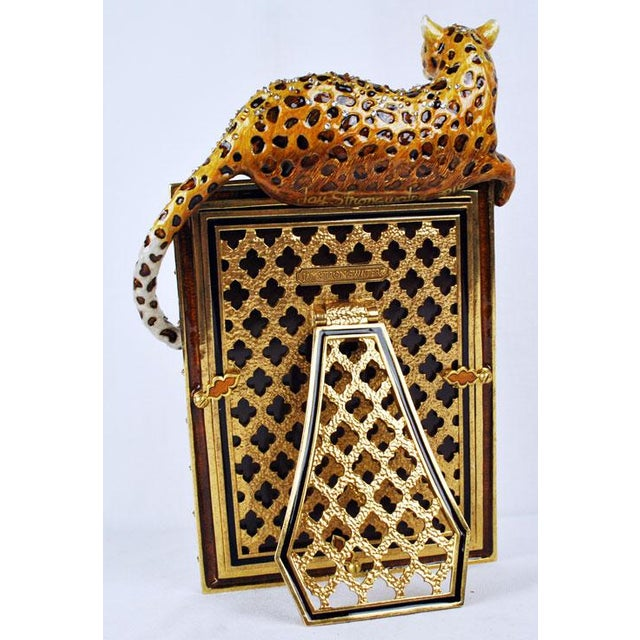 Jay Strongwater Jeweled Leopard Picture Frame | Chairish