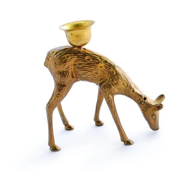 Brass Deer Candle Holder - Image 2 of 4