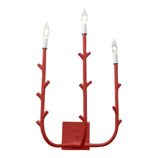 Stray Dog Designs for Chairish Fred Sconce, Deep Red For Sale