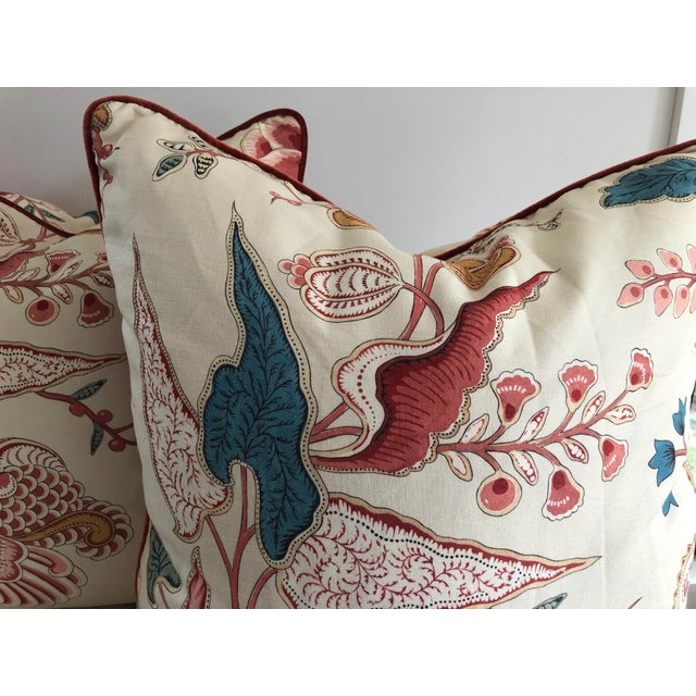 Jacobean Jacobean Clarence House Floral Euro Pillows - a Pair For Sale - Image 3 of 7