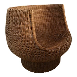 Modern Wicker Rattan Round Bubble Chair