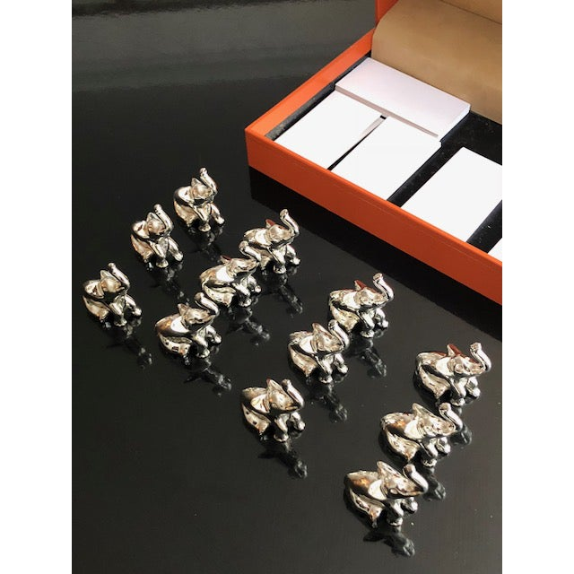 Saint Hilaire Elephant Place Holders - Set of 12 For Sale - Image 4 of 7