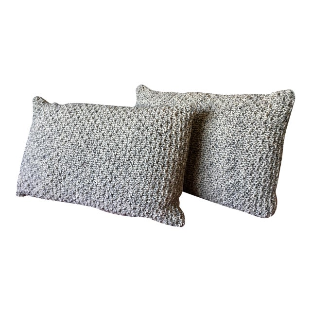 Knotted Wool Pillows, Warm Grey Decor Set/2 - Image 1 of 8