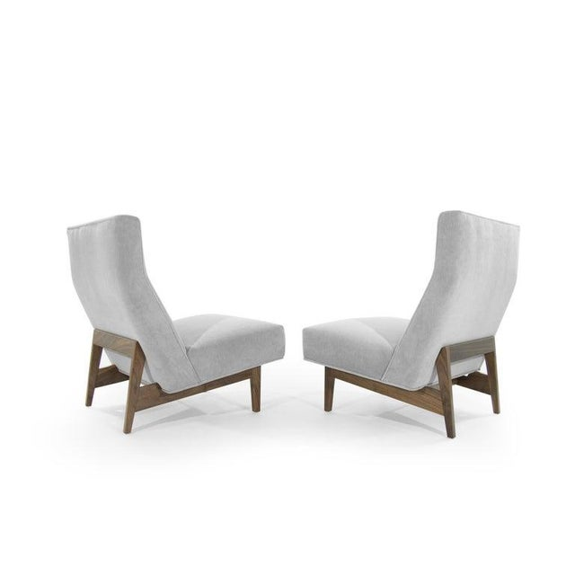 Jens Risom Classic Slipper Chairs by Jens Risom, Circa 1950s - a Pair For Sale - Image 4 of 13