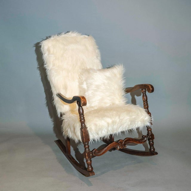 French Vintage Traditional Curated French Rocker Chair For Sale - Image 3 of 6