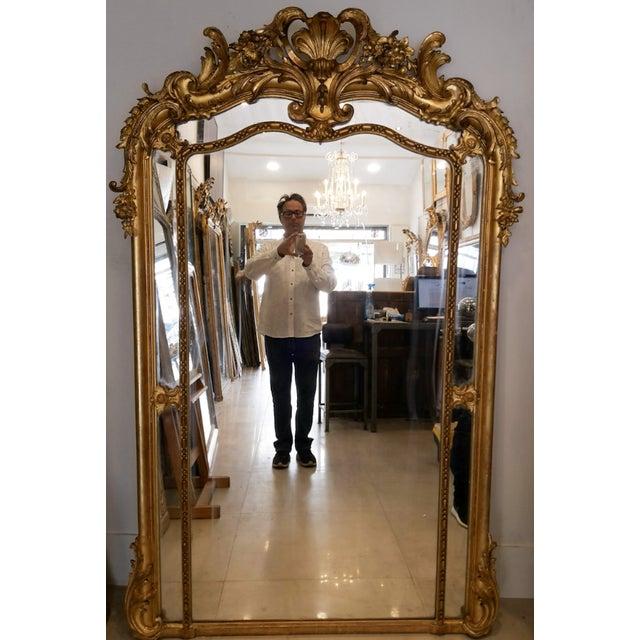 Napolean III Paraclose Gilt Mirror