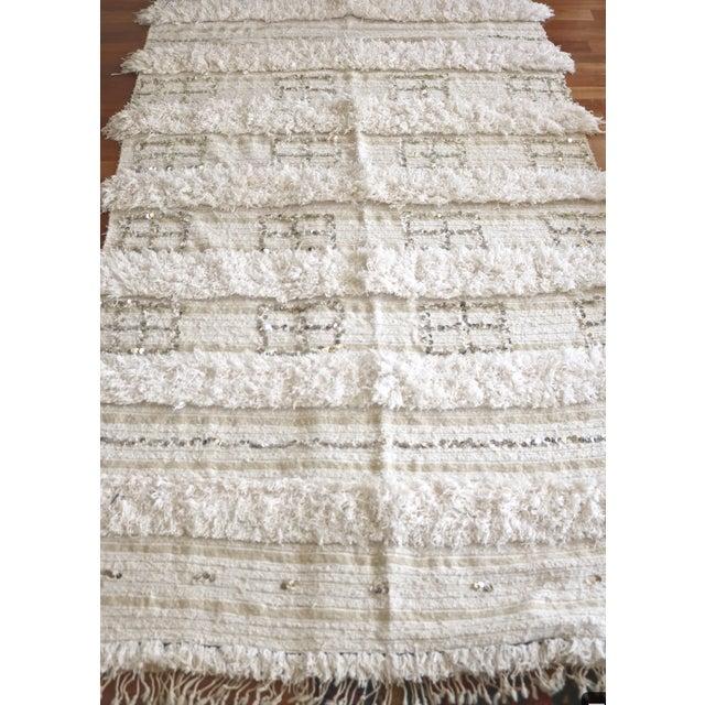 Vintage Moroccan Wedding Blanket - Image 4 of 5
