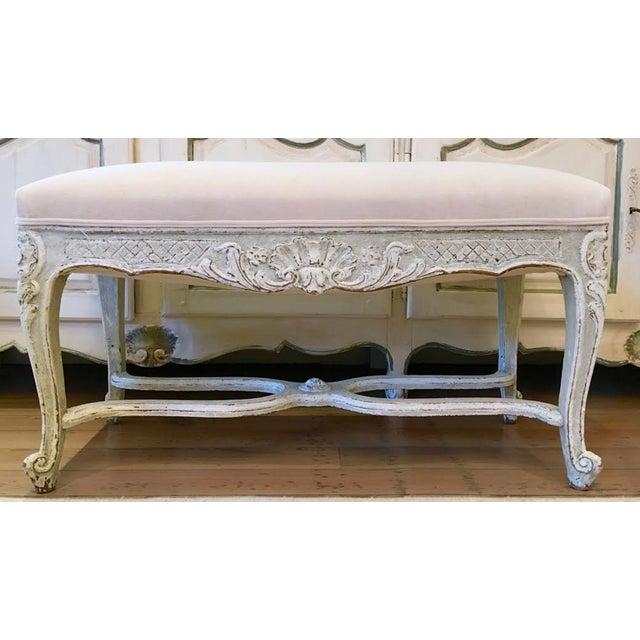 French 19th C Louis XV Bench For Sale - Image 3 of 3