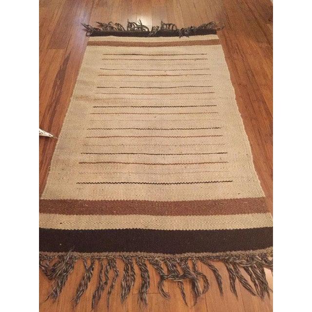 Vintage Moroccan Hand Woven Flatweave Rug - Image 4 of 8