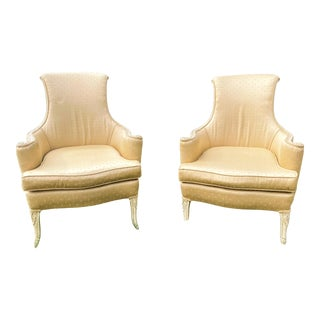 Victorian Scroll Back Arm Chairs - a Pair For Sale