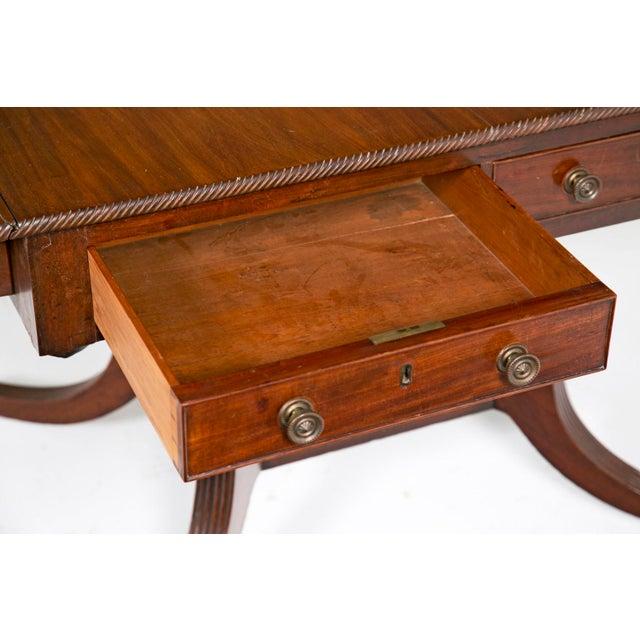 English Regency Mahogany Sofa / Writing Table - Image 6 of 9