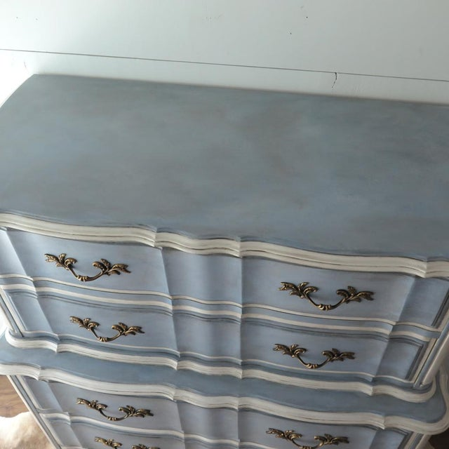 French Provincial Painted Highboy For Sale - Image 4 of 10