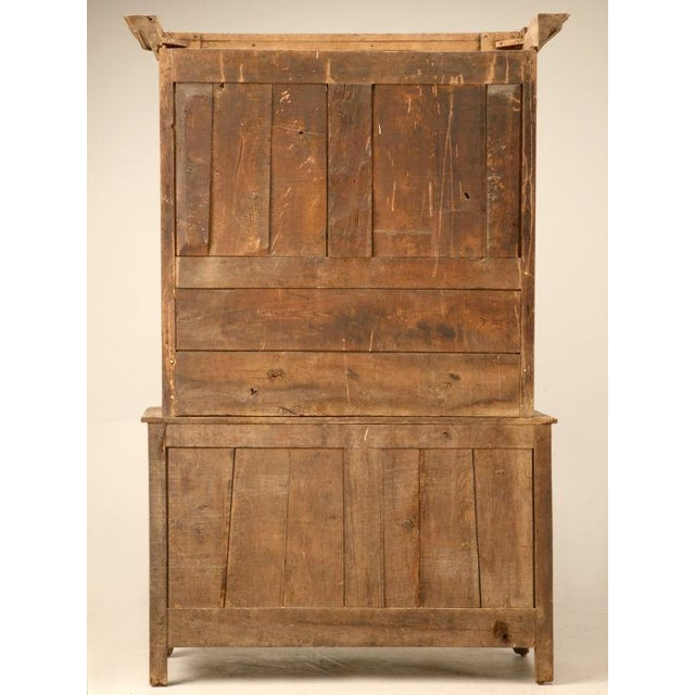 Oak 18th C. Antique French Oak Normandy Buffet For Sale - Image 7 of 10