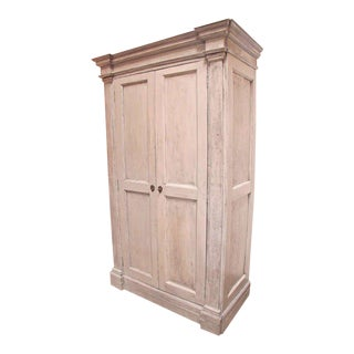 Italian 18th C. Oversized Distressed Armoire For Sale