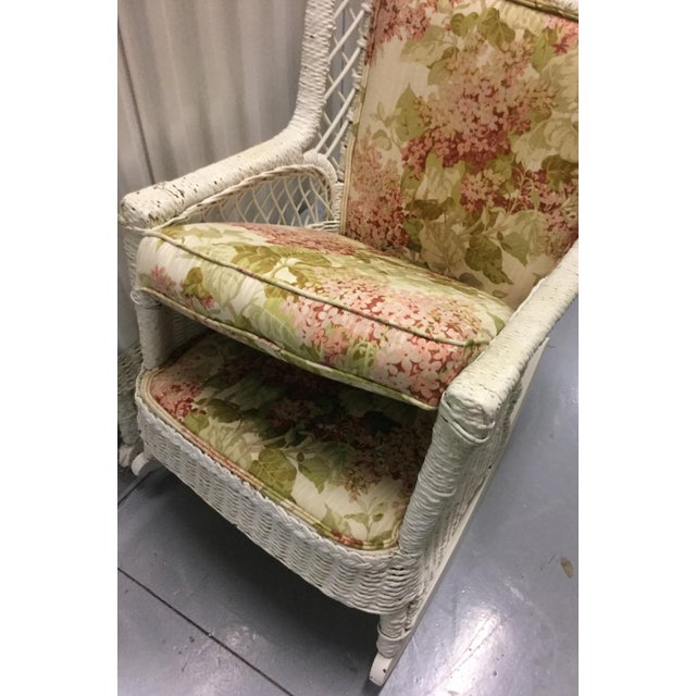 Vintage Wicker Rocking Chair - Image 8 of 10