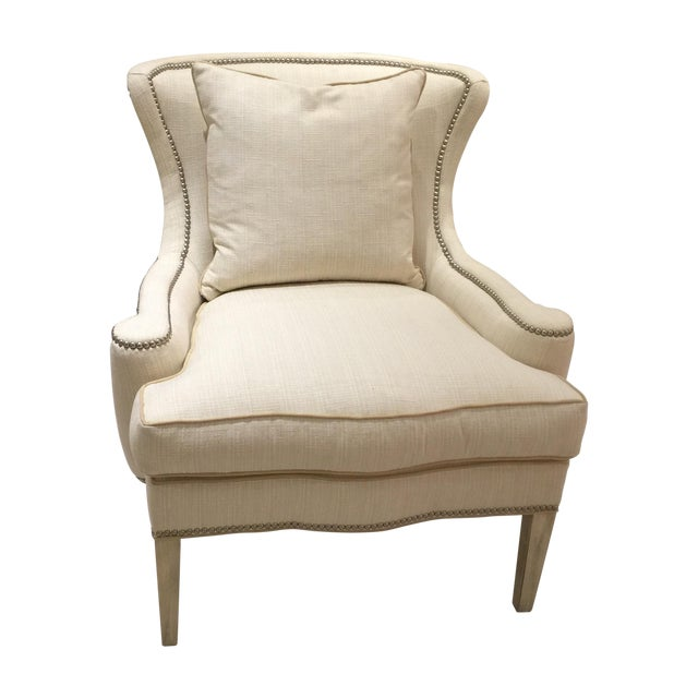 Southwood Transitional Modified Wing Chair For Sale