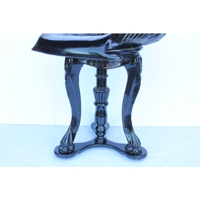 19th Century Lacquered Italian Shell Shaped Grotto Stool - Image 4 of 4